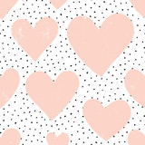 Hearts and Dots Pattern - 100263352