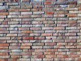 color detail photography of ancient bricks wall