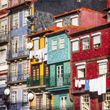 Fototapety colorful buildings of Porto. Portugal