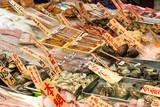 Traditional seafood in Nishiki Market, Kyoto