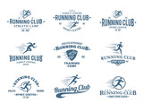Fototapety Running Club Logo, Icons and Design Elements