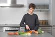 Teenage Boy in the kitchen