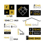 Feng Shui - collection of abstract design elements