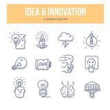 Idea & Innovation Doodle Icons - 100402545