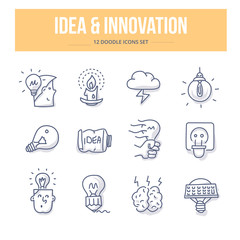 Idea & Innovation Doodle Icons
