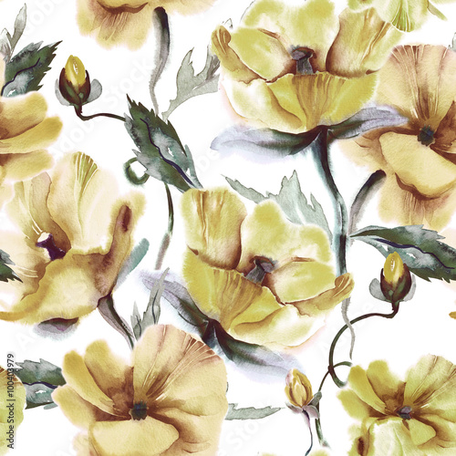 Floral Seamless Pattern  - 100403979