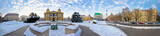 Zagreb Marshal Tito square winter panorama