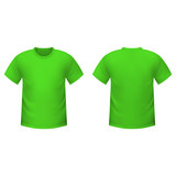 Realistic green t-shirt