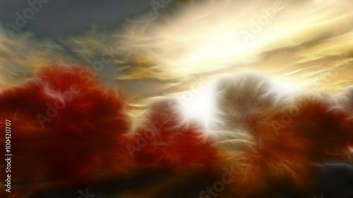 Plakat Impressionist autumn scene