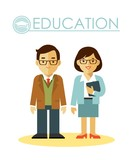 Fototapety Education concept with teacher profession