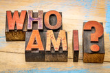 Who am I - question in wood type