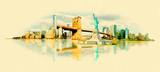 Fototapety vector watercolor NEW YORK city illustration