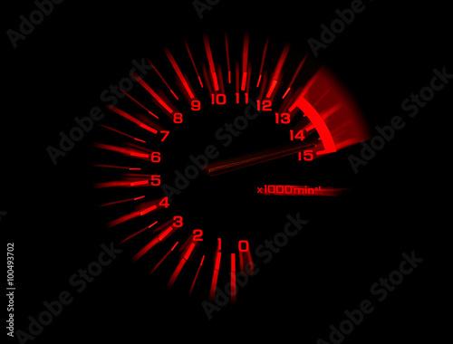 Poster automobile tachometer speedometer