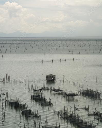 Plakat View of Songkhla Lake and Koh Yo Island on nice day:Select focus