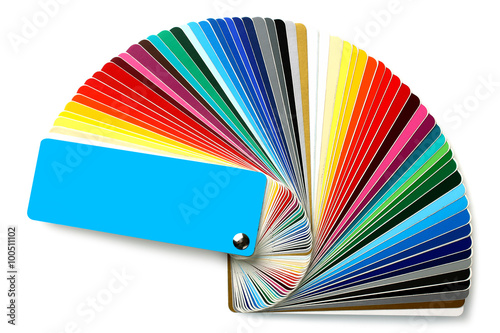 Poster Plastic color Swatch on white background isolated