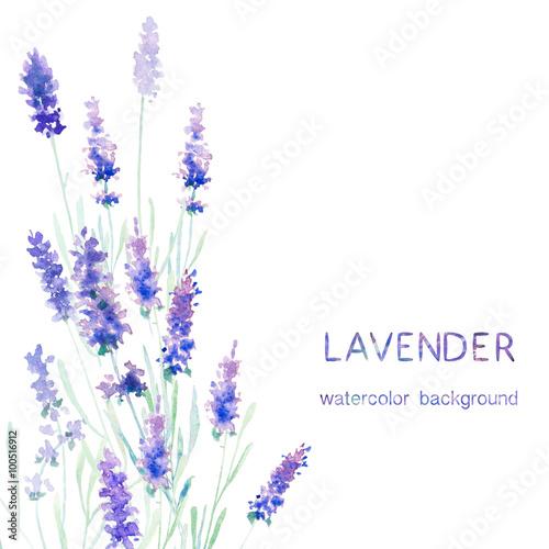 Watecolor lavender card
