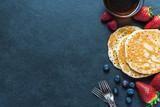 Fototapety Pancakes border background