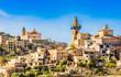 Obrazy na płótnie, fototapety, zdjęcia, fotoobrazy drukowane : Idyllic view of a old spanish village