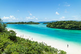 Tropical Japanese beach with clear blue water, Ishigaki island, Okinawa