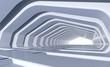 Perspective of futuristic tunnel
