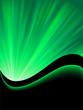 Obrazy na płótnie, fototapety, zdjęcia, fotoobrazy drukowane : Bright blast of light on green tone. EPS 8