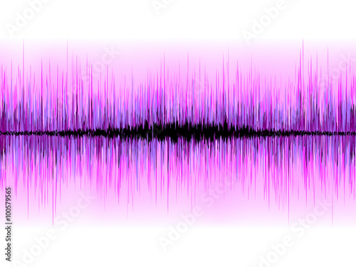 Sound waves oscillating on white background. EPS 8 - 100579565