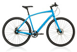 New blue bicycle isolated on a white