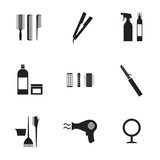 Hairdressing Icons Set 9.