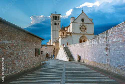Poster Basilica of St. Francis of Assisi in Umbria, Italy