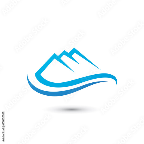 quotmountain wave logoquot stock image and royaltyfree vector