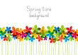 Rainbow floral border for Your design