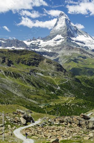 Poster Zermatt - Blick von der Fluhalp zum Matterhorn