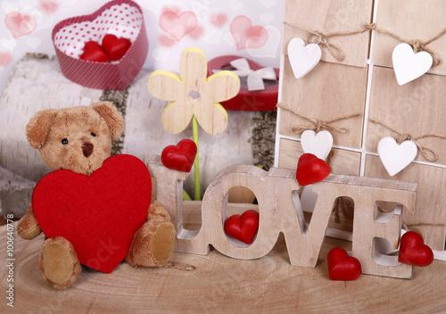 teddy mit herz und liebe