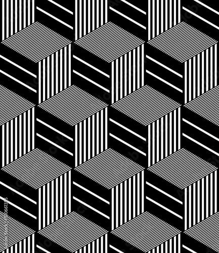 Tapeta Seamless op art pattern.
