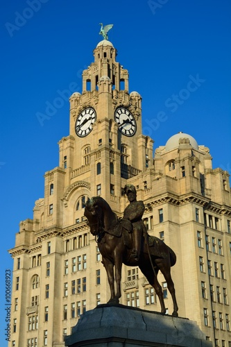 Poster Royal Liver building from Liverpool