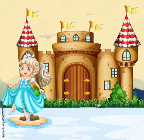Cute princess at the palace
