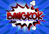 Bangkok - Comic book style word.