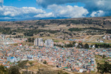 Aerial view of Tunja city, Colombia - 100686139