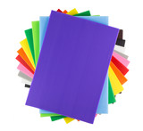 Stack of colorful  corrugated plastic sheets - 100689519