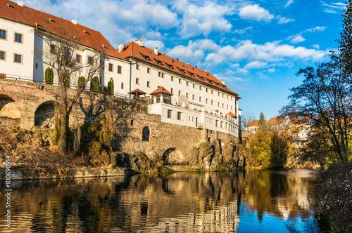 Keuken foto achterwand Noord Europa Beautiful view to castle in Cesky Krumlov
