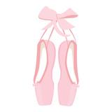 Fototapety Pink ballet pointe