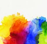 Fototapety aquarell abstrakt regenbogen