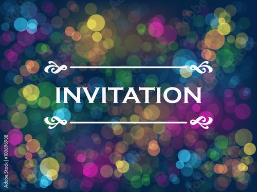 Zdjęcia na płótnie, fototapety, obrazy :  INVITATION Card