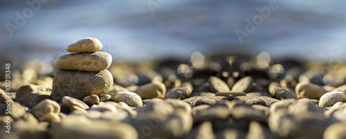 Staande foto Zen Zen stones on the seaside
