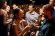 Obrazy na płótnie, fototapety, zdjęcia, fotoobrazy drukowane : Couples Dancing And Drinking At Evening Party