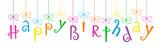 """HAPPY BIRTHDAY"" Festive Tree font banner"