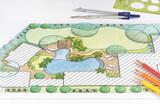 Landscape architect design backyard plan for villa - 100726749