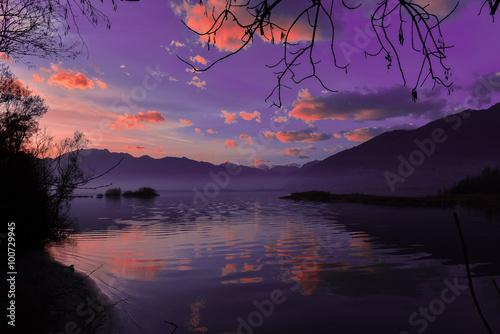 Poster magico tramonto