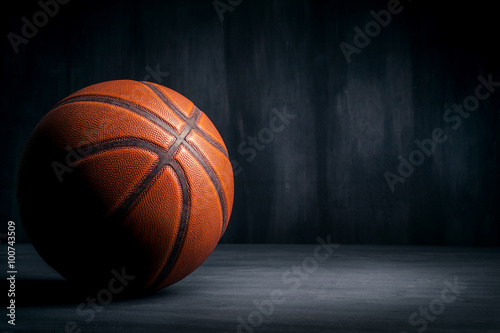 Fotobehang Basketbal basketball ball on a black background