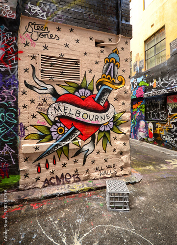 Plakat Graffiti on Hosier Lane